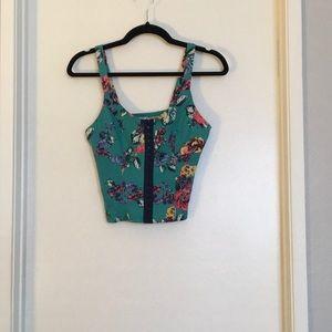 Tops - Floral corset crop top